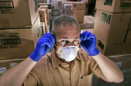 swine flu mask gloves