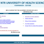 How to Apply for MDS Entrance 2012 for NTRUHS – PGMET and MDSET